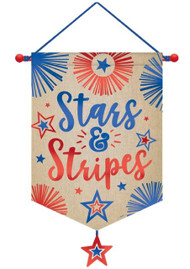 USA Canvas Party Banner Decoration
