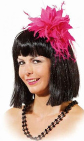Ladies Pink Feather 1920s Headpiece