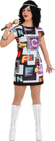 Ladies Disco Fever Fancy Dress Costume