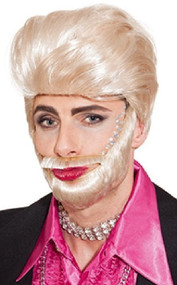 Mens Blonde Beard & Wig Fancy Dress Kit