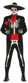 Mens Day Of The Dead Skeleton Fancy Dress Costume