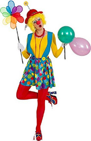 Ladies Spotty Clown Fancy Dress Costume