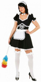 Ladies French Flirty Maid Fancy Dress Costume