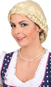 Ladies Blonde Plaited Fancy Dress Wig