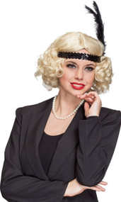 Ladies 1920s Blonde Flapper Wig