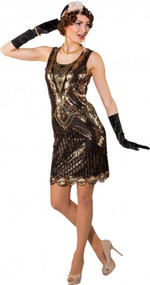 Ladies Vintage Flapper Fancy Dress Costume