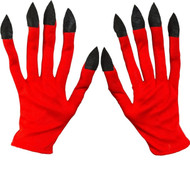 Adult's Halloween Devil Fancy Dress Gloves