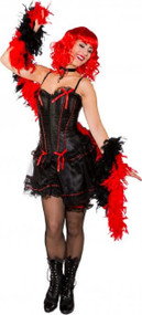 Ladies Sexy Black Saloon Girl Fancy Dress Costume