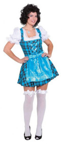Ladies Blue Tavern Girl Fancy Dress Costume