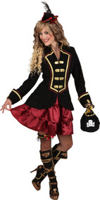 Ladies Deluxe Pirate Captain Fancy Dress Costume