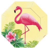 Flamingo Party Dessert Plates