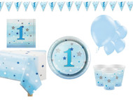 Boys Blue Star 1st Birthday Complete Party Kit
