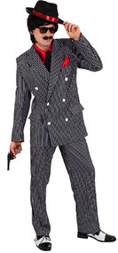 Mens 1920s Mafia Boss Fancy Dress Costume