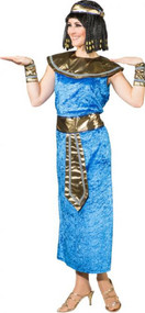 Ladies Blue Egyptian Queen Fancy Dress Costume