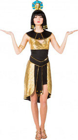 Ladies Golden Cleopatra Fancy Dress Costume