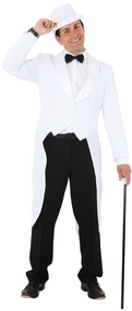 Men's White Showman Fancy Dress Tailcoat