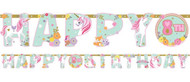 Magical Unicorn Party Letter Banner