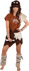 Ladies Cave Girl Fancy Dress Costume