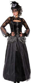 Ladies Dark Witch Fancy Dress Costume