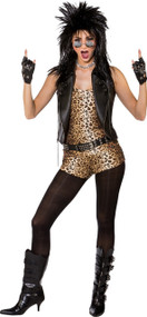Ladies 80s Rock Chick Fancy Dress Costume