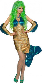 Ladies Deluxe Sexy Mermaid Fancy Dress Costume
