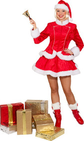 Ladies Miss Santa Fancy Dress Costume 1