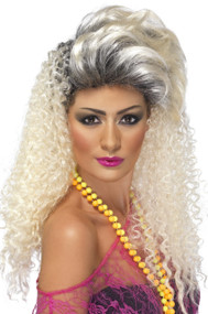 Ladies 80s Bottle Blonde Fancy Dress Wig