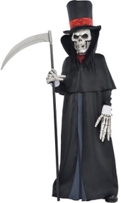 Boys Skeleton Grim Reaper Fancy Dress Costume