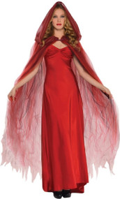 Ladies Scarlet Temptress Fancy Dress Cape