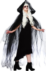 Ladies Dark Temptress Fancy Dress Cloak
