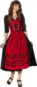 Ladies Deluxe Traditional Drindl Fancy Dress Costume