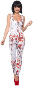 Ladies Blood Splatter Fancy Dress Costume