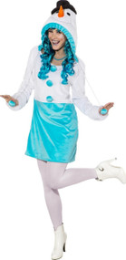 Ladies Frosty Snowman Fancy Dress Costume