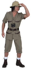 Men's Safari Explorer Fancy Dress Costume