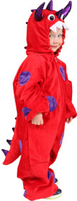 Child's Red Monster Fancy Dress Costume