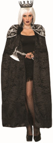 Ladies Deluxe Gothic Royalty Fancy Dress Cape