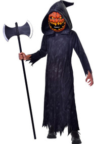 Boys Pumpkin Reaper Fancy Dress Costume