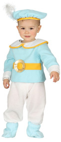 Baby Boys Blue Prince Fancy Dress Costume
