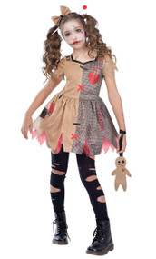 Girls Voodoo Doll Fancy Dress Costume