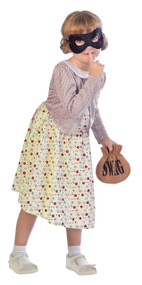 Girls Burglar Granny Fancy Dress Costume 1