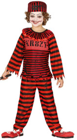 Child's Clown Convict Fancy Dress Costume
