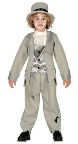 Boys Ghostly Groom Fancy Dress Costume