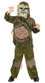 Boys Gruesome Zombie Fancy Dress Costume