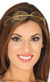 Ladies Gold Leaves Roman Headband
