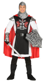 Mens Medieval Knight Crusader Fancy Dress Costume