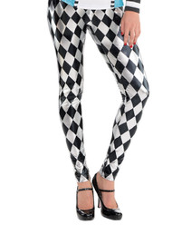 Ladies Wonderland Fancy Dress Leggings