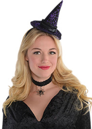 Ladies Witch Mini Hat Hairband