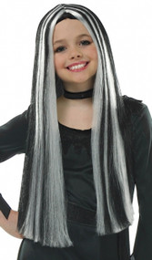 Girls Long Witch Fancy Dress Wig