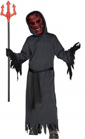 Boys Light Up Devil Fancy Dress Costume