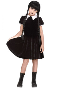 Girls Gothic Daughter Fancy Dress Costume
